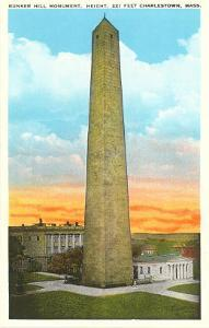 Bunker Hill Monument, Charlestown, Mass.