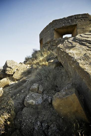 Bunker Used in the Spanish Civil War, Tierz, Huesca, Aragon, Spain.-pedrosala-Photographic Print