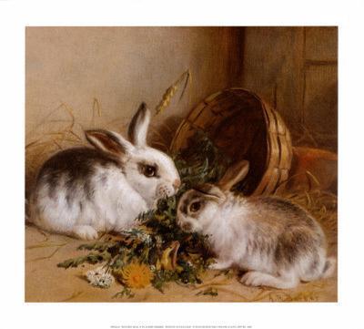 Bunnies' Meal II-Alfred Barber-Art Print