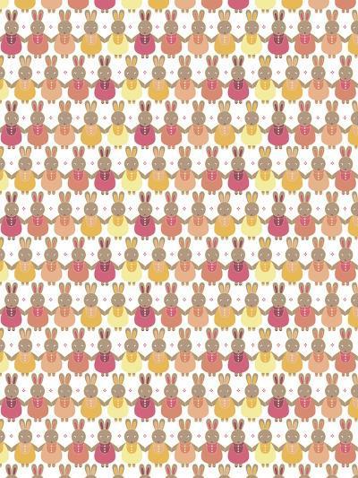 Bunnies Ombre-Josefina Baumann-Giclee Print