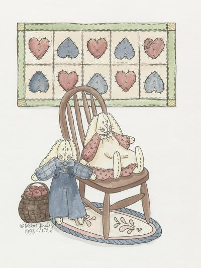 Bunnies with Chair-Debbie McMaster-Giclee Print