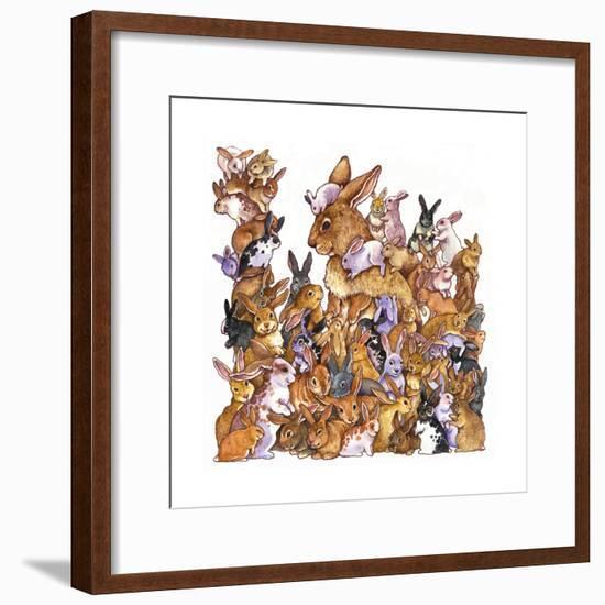 Bunnies-Wendy Edelson-Framed Giclee Print