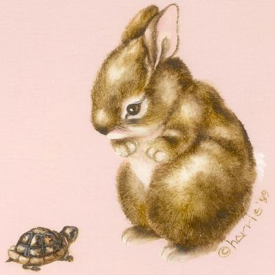 Bunny and Turtle-Peggy Harris-Giclee Print