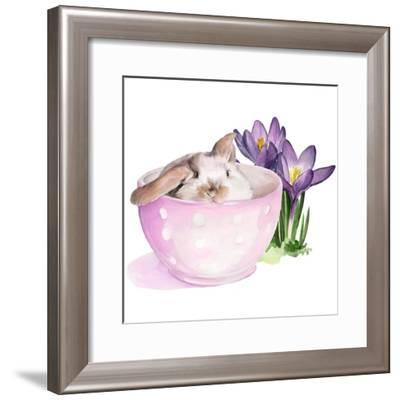 Bunny Crossing II-Jennifer Parker-Framed Art Print