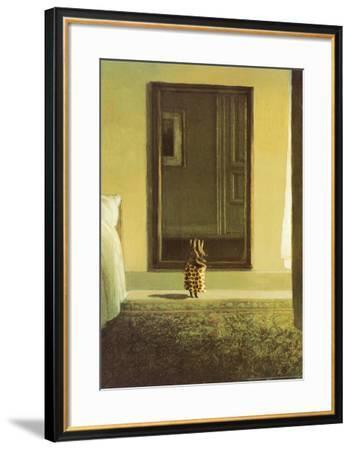 Bunny Dressing-Michael Sowa-Framed Art Print