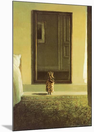 Bunny Dressing-Michael Sowa-Mounted Art Print