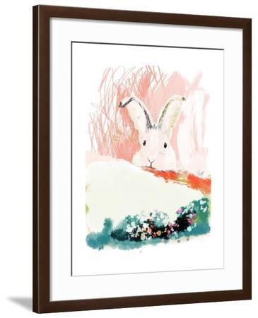 Bunny in the Garden-Niya Christine-Framed Art Print