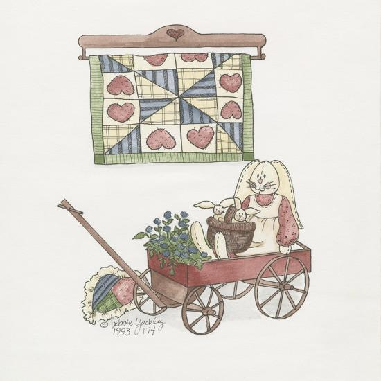 Bunny in Wagon-Debbie McMaster-Giclee Print