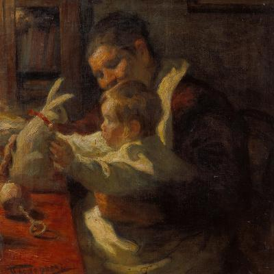 Bunny, Nanny and Child, 1901-Leonid Ossipowitsch Pasternak-Giclee Print