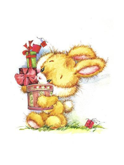 Bunny Rabbit with Gifts-ZPR Int'L-Giclee Print