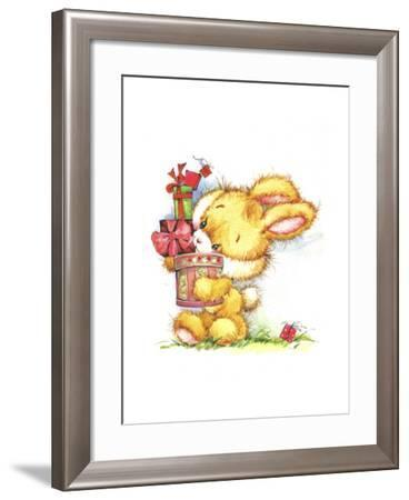 Bunny Rabbit with Gifts-ZPR Int'L-Framed Giclee Print