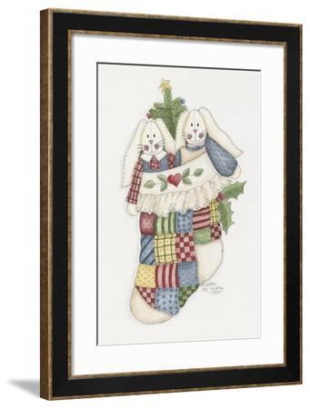 Bunny Stocking-Debbie McMaster-Framed Giclee Print