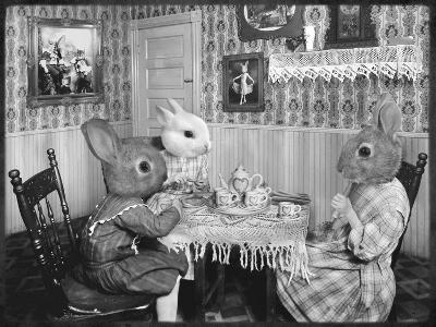 Bunny Tea Party-Grand Ole Bestiary -Art Print
