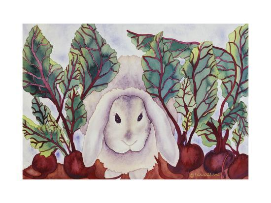 Bunny with Beets-Carissa Luminess-Giclee Print