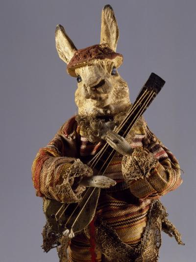 Bunny with Mandolin, Detail, Germany, Late 19th Century--Giclee Print