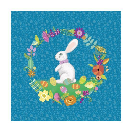 Bunny Wreath II-Chariklia Zarris-Art Print