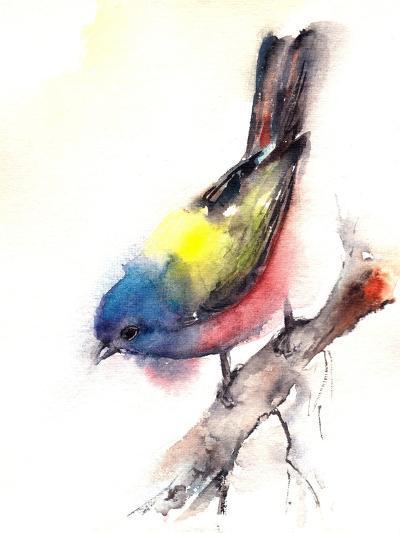 Bunting Bird- CanotStop-Art Print
