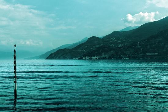 Buoy in Lake Como Near Bellagio Italy--Photo