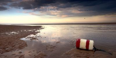 Buoy on Seashore; Alnmouth,Northumberland,England-Design Pics Inc-Photographic Print