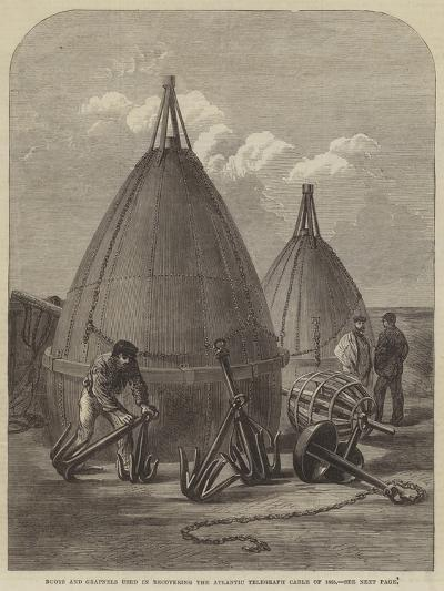 Buoys and Grapnels Used in Recovering the Atlantic Telegraph Cable of 1865--Giclee Print