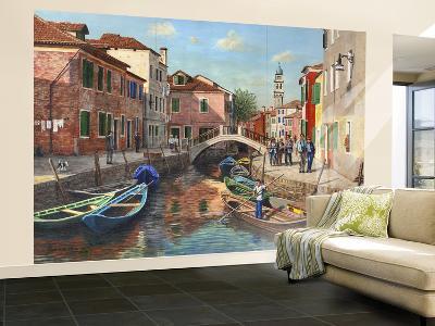 Burano Canal Venice-Richard Harpum-Wall Mural – Large