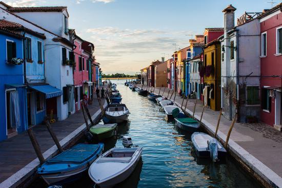 Burano, Venice, Italy, Europe-Mark A Johnson-Photographic Print