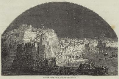 Burford's New Panorama of Naples by Moonlight--Giclee Print