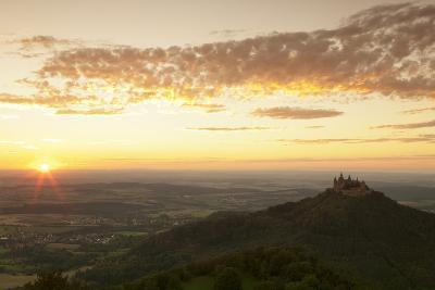Burg Hohenzollern Castle at Sunset, Hechingen, Swabian Alps, Baden-Wurttemberg, Germany, Europe-Markus Lange-Photographic Print