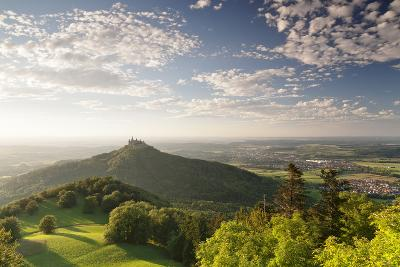 Burg Hohenzollern Castle at Sunset, Swabian Alps, Baden-Wurttemberg, Germany, Europe-Markus Lange-Photographic Print