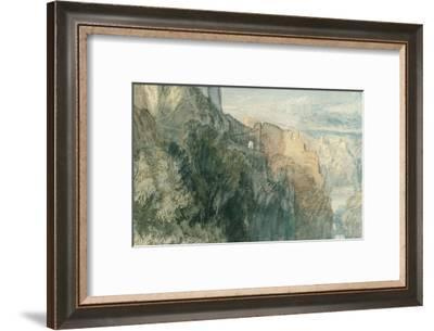 Burg Katz with View towards Burg Rheinfels, 1817-J^ M^ W^ Turner-Framed Giclee Print