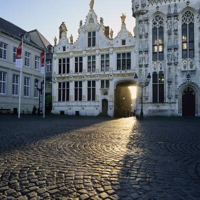 Burg Square and Town Hall, Bruges, UNESCO World Heritage Site, West Vlaanderen (Flanders), Belgium-Stuart Black-Photographic Print