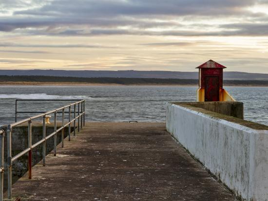 Burghead, Walking the Pier Plank.-Jasperimage-Photographic Print