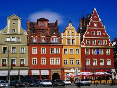 Burgher Houses on Salt Square, Wroclaw, Poland-Krzysztof Dydynski-Photographic Print