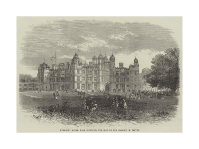 Burghley House, Near Stamford, the Seat of the Marquis of Exeter--Giclee Print