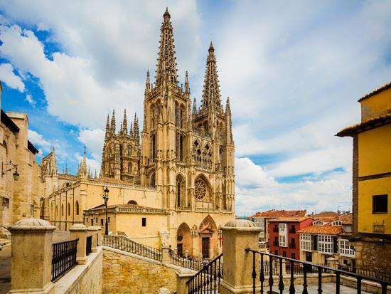 Burgos, Burgos Province, Castile y Leon, Spain. The Gothic cathedral. Construction began in the...--Photographic Print