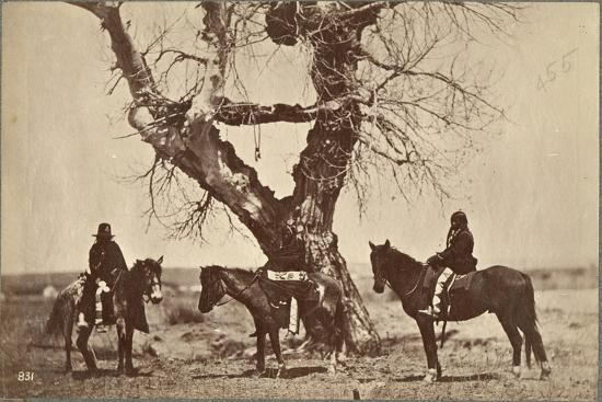 Burial, Dakota, 1868-Alexander Gardner-Giclee Print