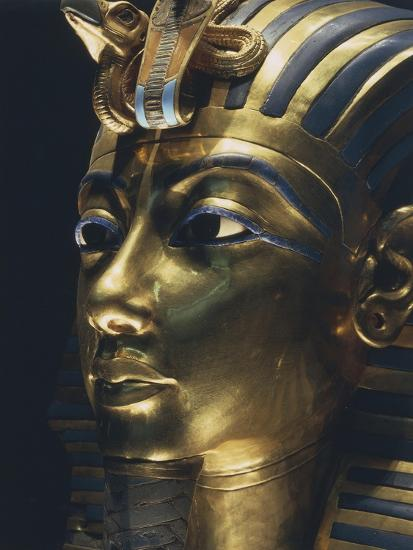 Burial Mask of Pharaoh Nebkheperura Tutankhamen, from Treasure of Tutankhamen--Giclee Print
