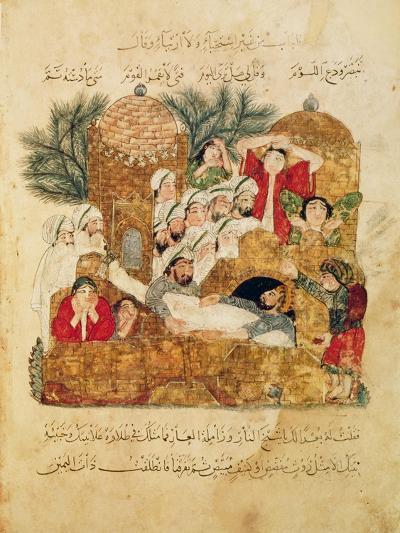 "Burial of a Plague Victim, from ""Al Maqamat"" by Al-Hariri--Giclee Print"