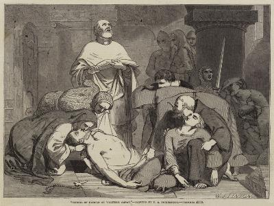 Burial of Harold at Waltham Abbey-Frederick Richard Pickersgill-Giclee Print