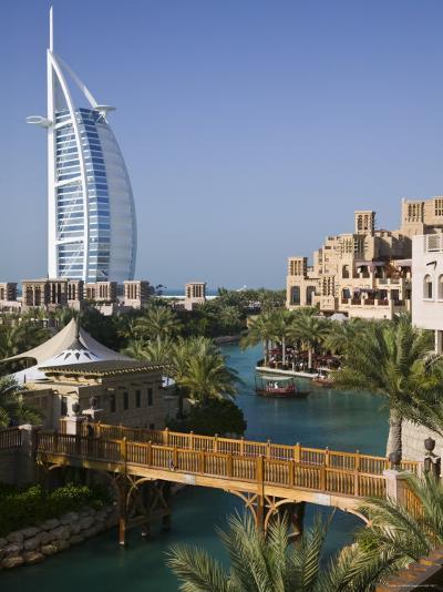 Burj Al Arab Hotel from the Madinat Jumeirah Complex, Dubai, United Arab Emirates-Walter Bibikow-Photographic Print