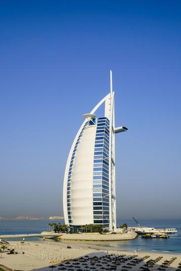 Burj Al Arab Hotel, Iconic Dubai Landmark, Jumeirah Beach, Dubai, United Arab Emirates, Middle East-Fraser Hall-Photographic Print