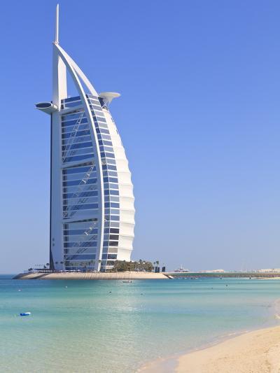 Burj Al Arab Hotel, Jumeirah Beach, Dubai, United Arab Emirates, Middle East-Amanda Hall-Photographic Print