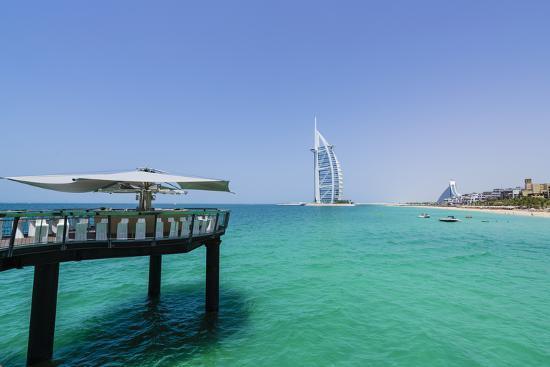 Burj Al Arab, Jumeirah Beach, Dubai, United Arab Emirates, Middle East-Fraser Hall-Photographic Print