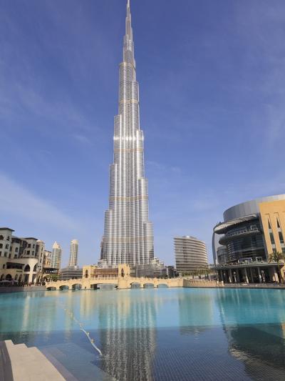 Burj Khalifa and Dubai Mall, Downtown, Dubai, United Arab Emirates, Middle East--Photographic Print