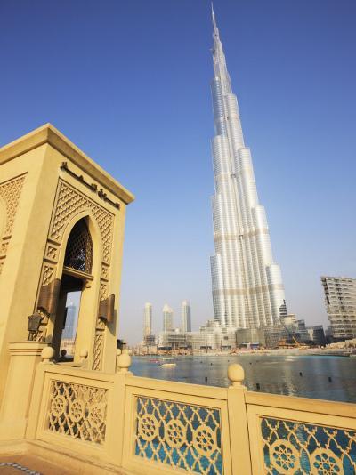 Burj Khalifa, Formerly the Burj Dubai, the Tallest Tower in the World at 818M-Amanda Hall-Photographic Print