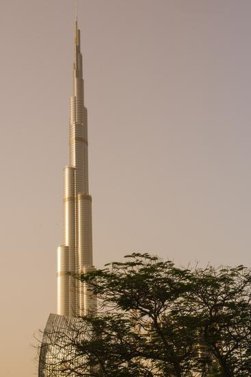 Burj Khalifa the Tallest Building in the World Downtown Dubai, Uae-Michael DeFreitas-Photographic Print