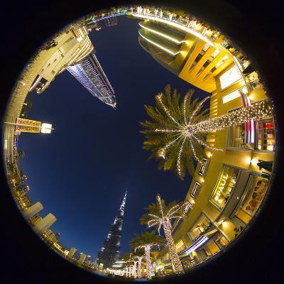 Burj Khalifa (World's Tallest Building) and the Address Downtown Hotel, Dubai, United Arab Emirates-Jon Arnold-Photographic Print