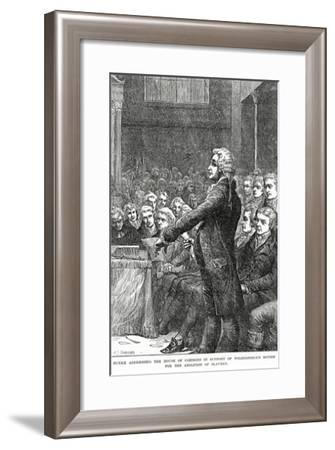 Burke Addressing the House of Commons in Support of Wilberforce's Motion for Abolition of Slavery-Charles Joseph Staniland-Framed Giclee Print