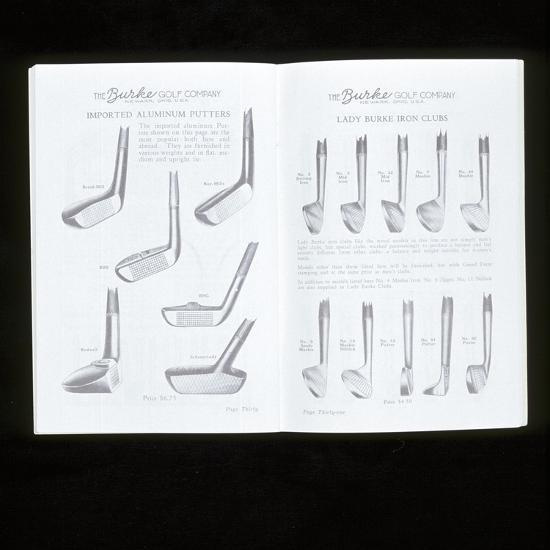 Burke Golf Co catalogue showing putters and ladies iron golf clubs, c1920s-Unknown-Giclee Print