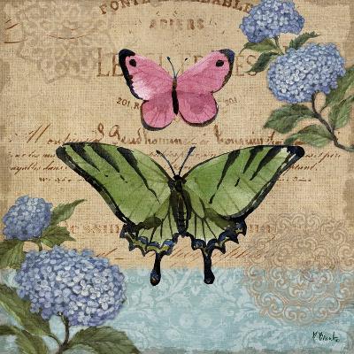 Burlap Butterflies I-Paul Brent-Art Print